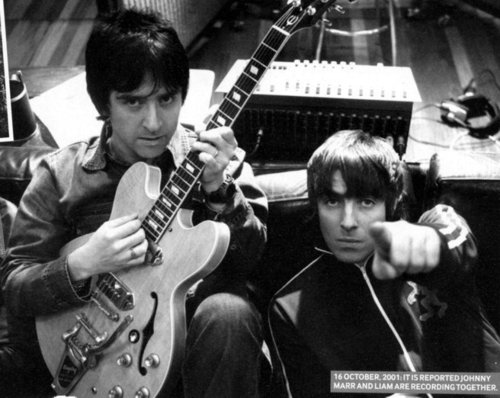LiamGallagher johnny marr