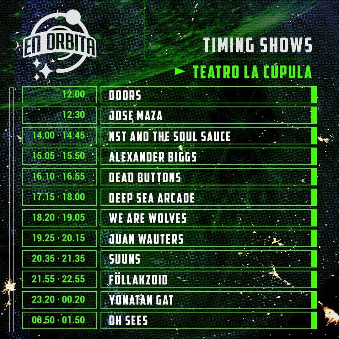 horarios en orbita