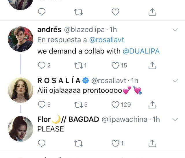 Dua Lipa y Rosalía harían una colaboración en 2019