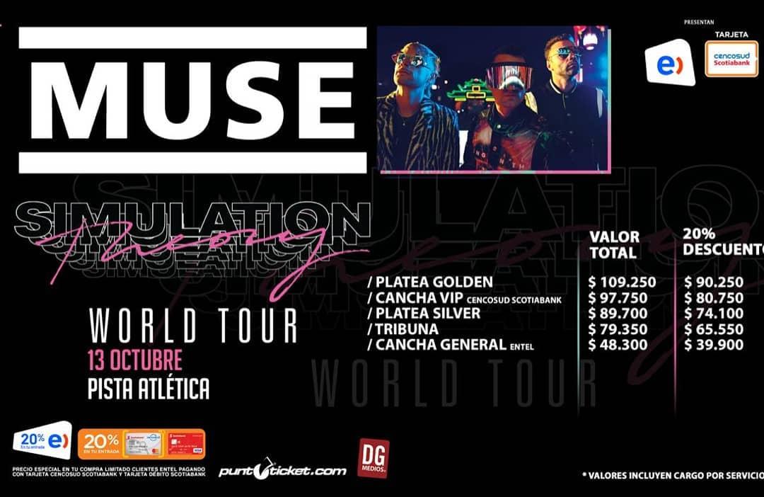 Muse se presentará en la Pista Atlética en octubre