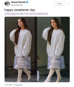 Ariana Grande foto demanda