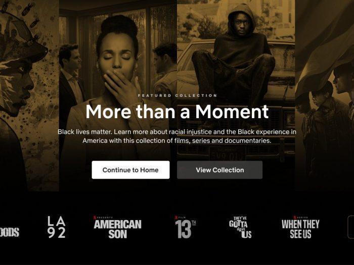 """Black Lives Matter"""": Netflix estrena una nueva categoría para ..."""